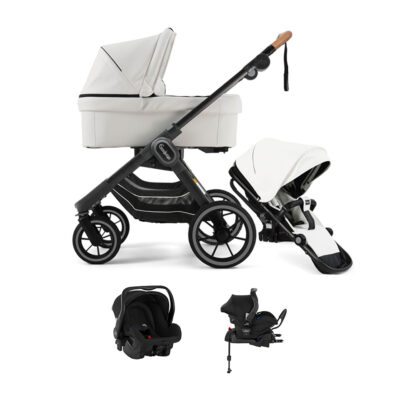 NXT90 Duo White Leatherette Black Outdoor Chassi